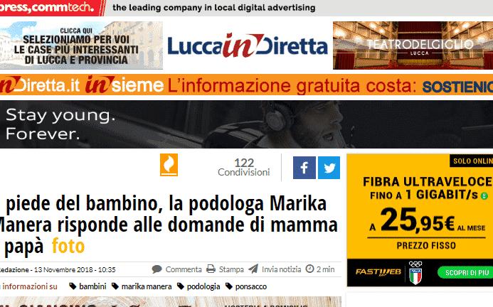 Lucca In Diretta – Il piede del bambino