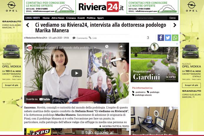 Ci vediamo su Riviera24, la video intervista